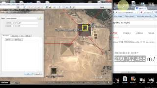 The Speed of Light: EXACT Location of the GREAT PYRAMID
