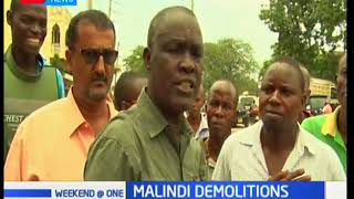 Traders in Malindi are up in arms against the government for the demolition of their structures