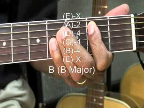 How To Play B Major Chord On Guitar B Chord Form Tutorial TABS Lesson