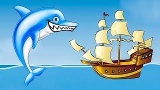 Несносный ДЕЛЬФИН съел всех в океане. ИГРА Tasty Blue #2 на Игрули TV