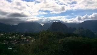 preview picture of video 'Time Lapse HDR IOS Village Hell-Bourg salazie île de la Réunion'