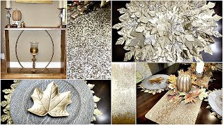 Dollar Tree Dinning Room DIYs & Style|| Z Gallerie Inspired Accent Table|| Picture|| And Placemats