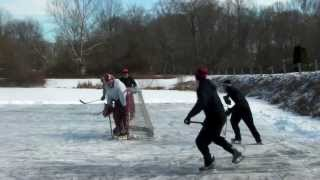preview picture of video 'Pond Hockey- West Chester, PA'