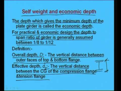Mod-7 Lec-3 Introduction to Plate Girders-Part 1 | Courses com