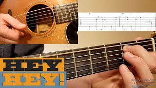 """""""Hey Hey"""" - Fingerstyle BLUES Guitar Lesson with TAB"""