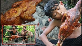 Primitive Technology - Grilled duck and eating delicious