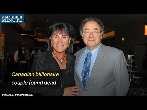 Canadian billionaire couple found dead
