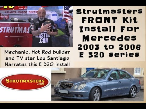 2003-2006 Mercedes E 320 Front Air Spring Conversion Installation