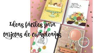 Como hacer tarjetas fáciles para cumpleaños con la colección A festejar de Texturarte