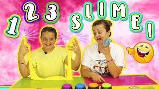 123 SLIME | UN DOS TRES Slime | Slime Challenge