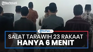 Salat Tarawih Super Cepat di Indramayu, 23 Rakaat Hanya 6 Menit, Ruku' dan Sujud Cuma 1 Detik