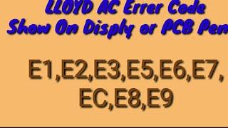 E1 code for Superair split air conditioner - Video hài mới full hd