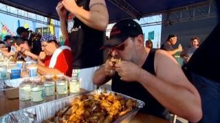 Чемпионат по поеданию куриных крылышек