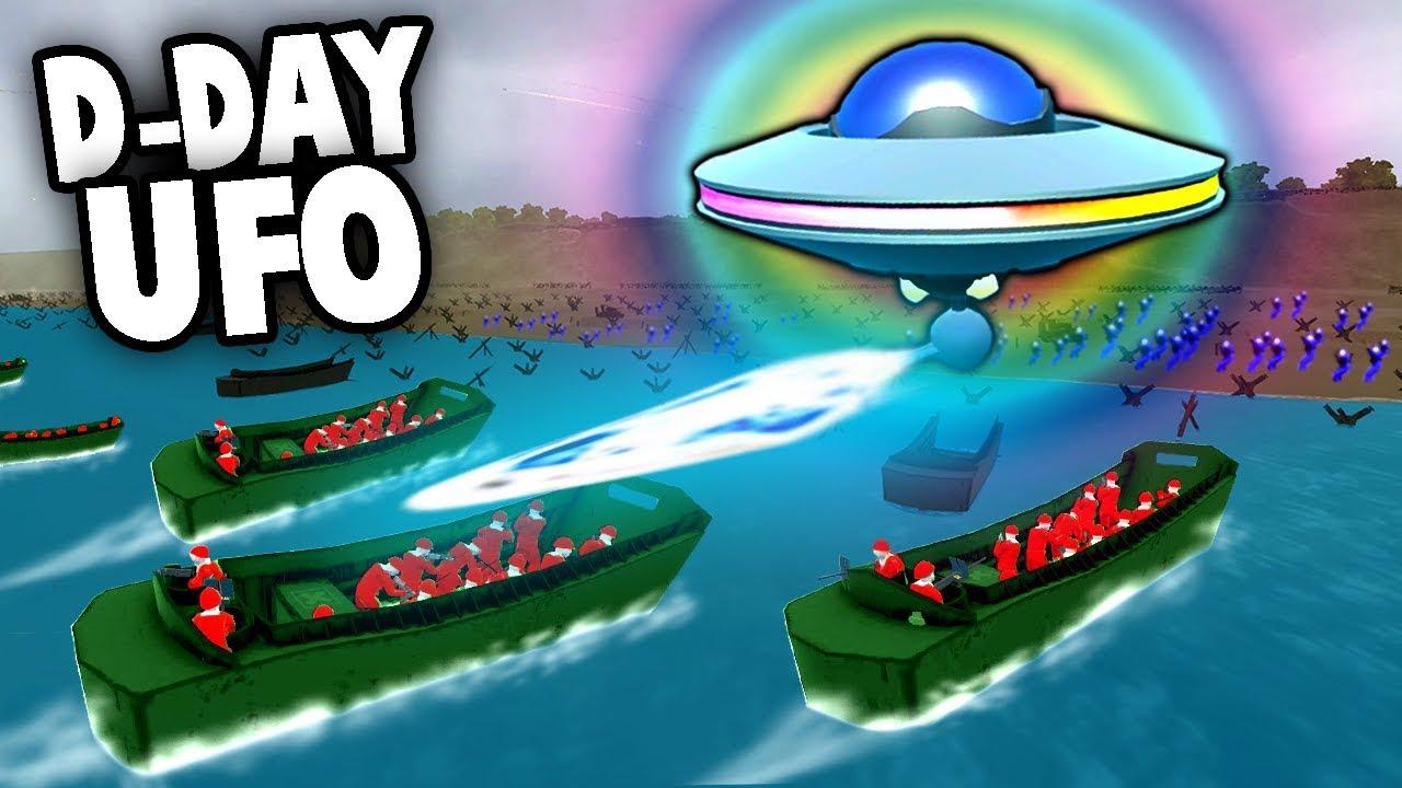 SECRET UFO Defends D-Day Invasion! Aliens! (Ravenfield