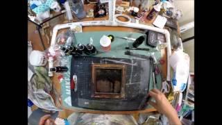 Altered Art -  Reverse Canvas