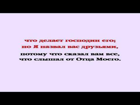 Видеобиблия. Евангелие от Иоанна. Глава 15