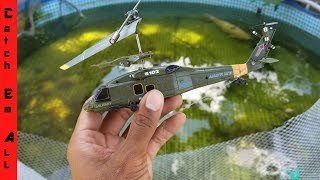 RC Helicopter Catches Fish FISHING APP!