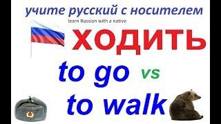 № 82  Русский язык : глагол ХОДИТЬ / использование, примеры, фразы
