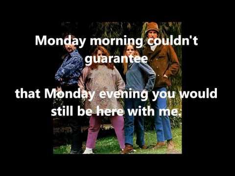 Monday, Monday  THE MAMAS & THE PAPAS (with lyrics)