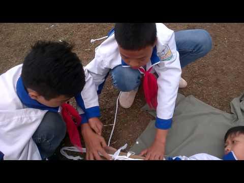 Sơ cứu gãy xương cẳng tay THCS Hà Thạch TX Phú Thọ
