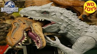 New Jurassic World Hybrid INDOMINUS REX Vs T-Rex 2015  UNBOXING Opening  - WD Toys Movie