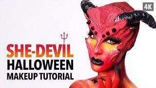 She-devil Halloween Makeup Tutorial