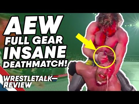 AEW Full Gear In About 4 Minutes… (Nov. 9, 2019) INSANE DEATHMATCH! | WrestleTalk