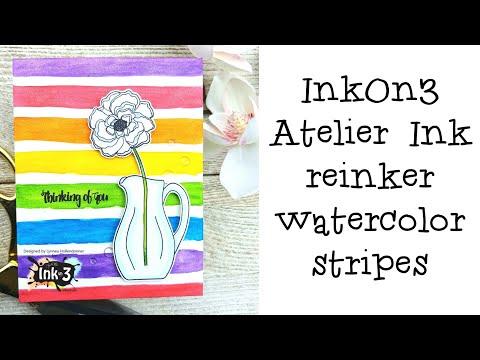 InkOn3 | Atelier Re-Inker Watercolor Stripes