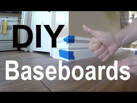 Kitchen Update 6 – Baseboards DIY and How to measure