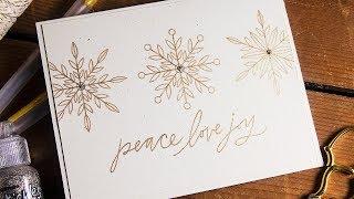 Clean & Simple Sketch Christmas Cards + Glitter & Metallic Gel Pen Review