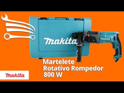 Martelete Combinado Makita 800W  com Maleta - Video