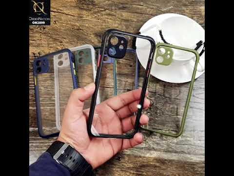 iPhone 11 - Black - Shiny Acrylic Anti-Shock Stylish Bumper Camera Protection Back Case