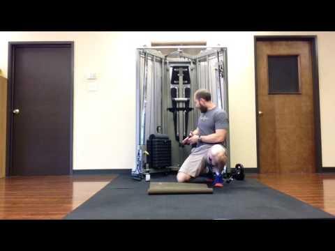 Enhanced Hip Flexor Stretch Exercise With Elastic Band   N 2