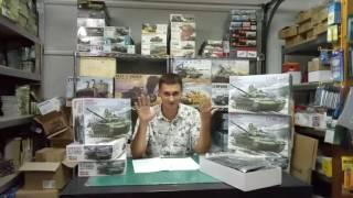 Российский основной боевой танк Т-72 Б3. 1/35 MENG TS-028 от компании Хоббинет. Сборные модели. - видео 1