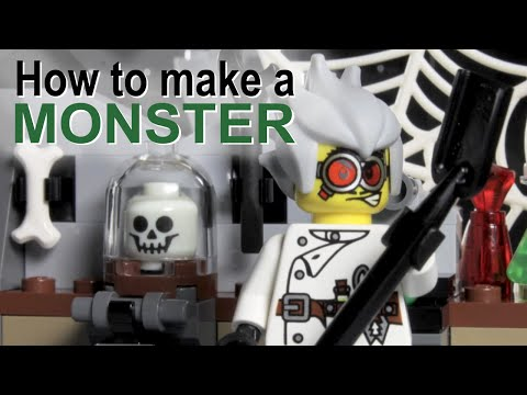 Vidéo LEGO Monster Fighters 9466 : Le professeur fou et sa créature monstrueuse