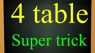How to learn  tables simple trick || 4 table || easy method for tables || A to z childrens channel