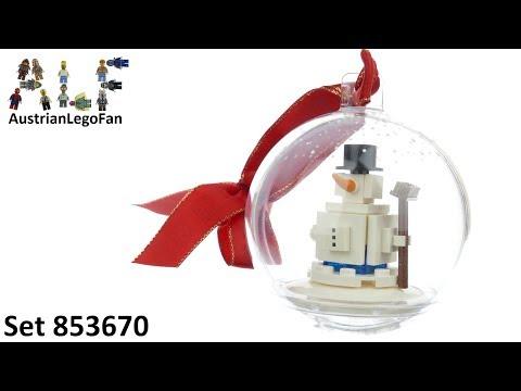 Vidéo LEGO Saisonnier 853670 : Décoration de Noël  « Bonhomme de neige »