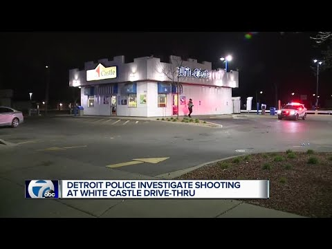 Detroit police investigate shooting at White Castle drive-thru