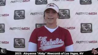 2023 Abryanna 'Abby' Newcomb Power Hitting Catcher & 3rd Base Softball Skills Video - Lil Rebels