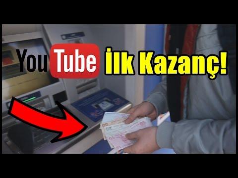 YOUTUBE KAZANCIMI BANKADAN ÇEKİYORUM