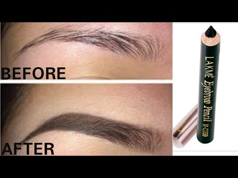 Eyebrows को fill करने का सबसे आसान तरीक़ा ft. Lakme Eyebrow Pencil Only Rps 65||TipsToTop By Shalini