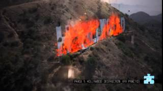 Hollywood Sign on Fire _ VFX PRACTICE