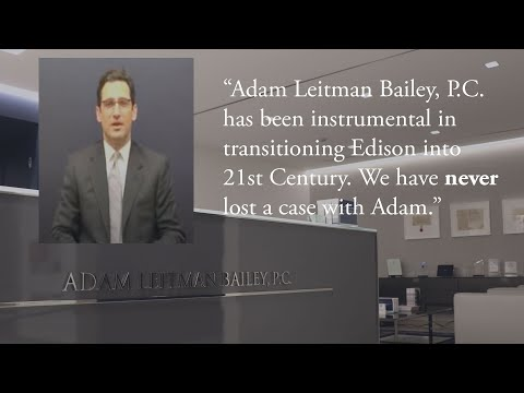 """Adam Leitman Bailey, P.C. has been instrumental in transitioning Edison into 21st Century. We have never lost a case with Adam."" testimonial video thumbnail"