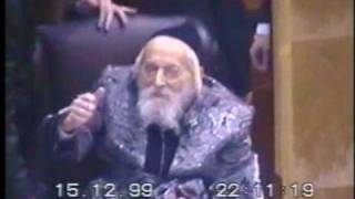 """Bobov Rebbe's Zt""""l at Wedding the Rebbe Stands Up for his Son"""