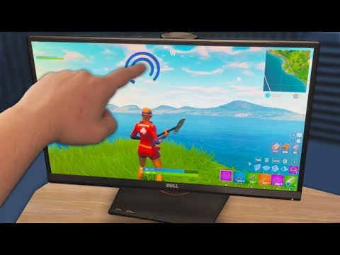 Cheating in Fortnite with a Touch Screen Monitor
