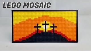LEGO Cross Mosaic MOC [Timelapse]