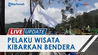 Protes Dampak Pembatasan, Pelaku Wisata di Puncak Bogor Kibarkan Bendera Putih 'Tanda Menyerah'