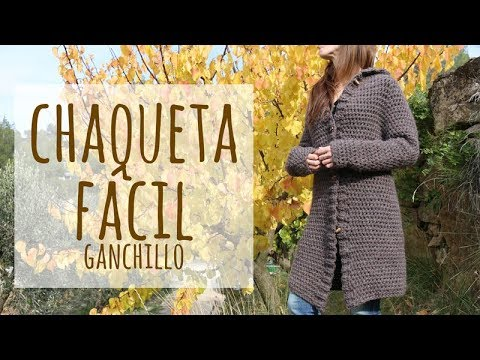 Tutorial Chaqueta o Abrigo Fácil y Rápido Ganchillo | Crochet