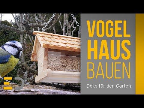 Vogelhaus, Vogelfutterhaus bauen  ★ Edelraster