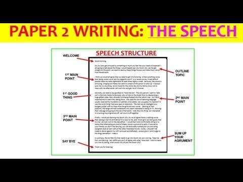 Essay speech example